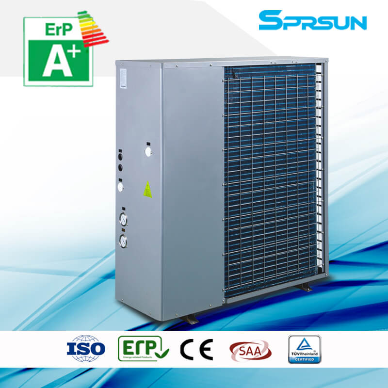 18.5KW-26KW -25℃ EVI Air Source Heat Pump Water Heater & Floor Heating in Cold Climate